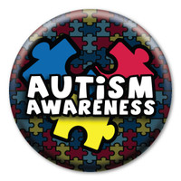 Autism Awareness Circle Button