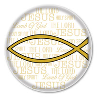 Gold Fish Circle Button