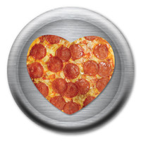 Pizza Heart Circle Button
