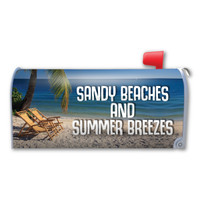 Sandy Beaches and Summer Breezes Mailbox Cover Magnet