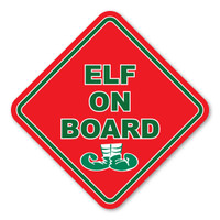 Elf on Board Diamond Magnet