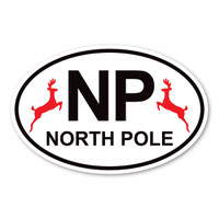 North Pole Oval Magnet