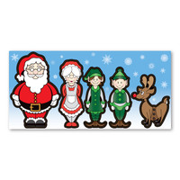 Santa Family Figures Pack Magnet