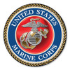 "In 1775, the Marine Corps was formed as the Continental Marines. They were specifically established to serve as an infantry branch that was able to engage in combat both on land and at sea during the American Revolutionary War. Today, members of the Marine Corps work closely with the Navy as well as the Army and the Air Force, gaining nicknames such as ""America's third Air Force"" and ""America's second land Army."" This 5"" Circle Magnet can be used by former and current Marines to show pride in their branch. It can also be used by others to show support for the USMC."