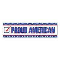 Proud American Rectangle Bumper Strip Decal