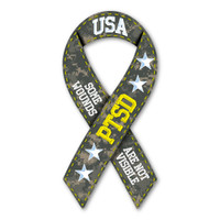 PTSD Military Ribbon Magnet