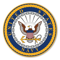 Navy Large Seal Decal