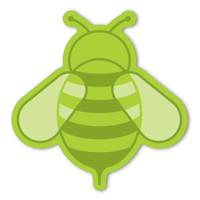Lime Bee Magnet