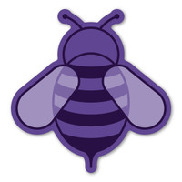 Purple Bee Magnet