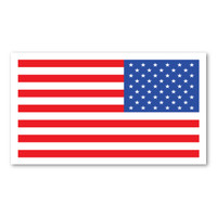 Large Reversed American Flag Magnet