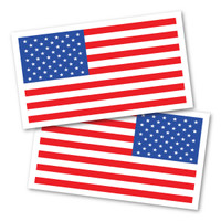 American Flag/ Reversed American Flag Rectangle Magnet Pack