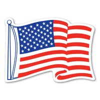 Waving Flag Decal