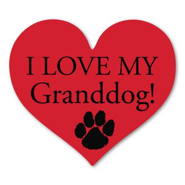 I Love My Granddog Heart Magnet Magnet America