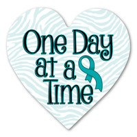 Cervical Cancer One Day at a Time Heart Indoor Magnet