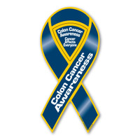 Colon Cancer Awareness 2-in-1 Ribbon Magnet