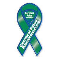 Cerebral Palsy Awareness 2-in-1 Ribbon Magnet