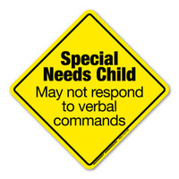 Special Needs Child Emergency Alert  Decal