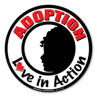 Adoption Love In Action Circle Magnet