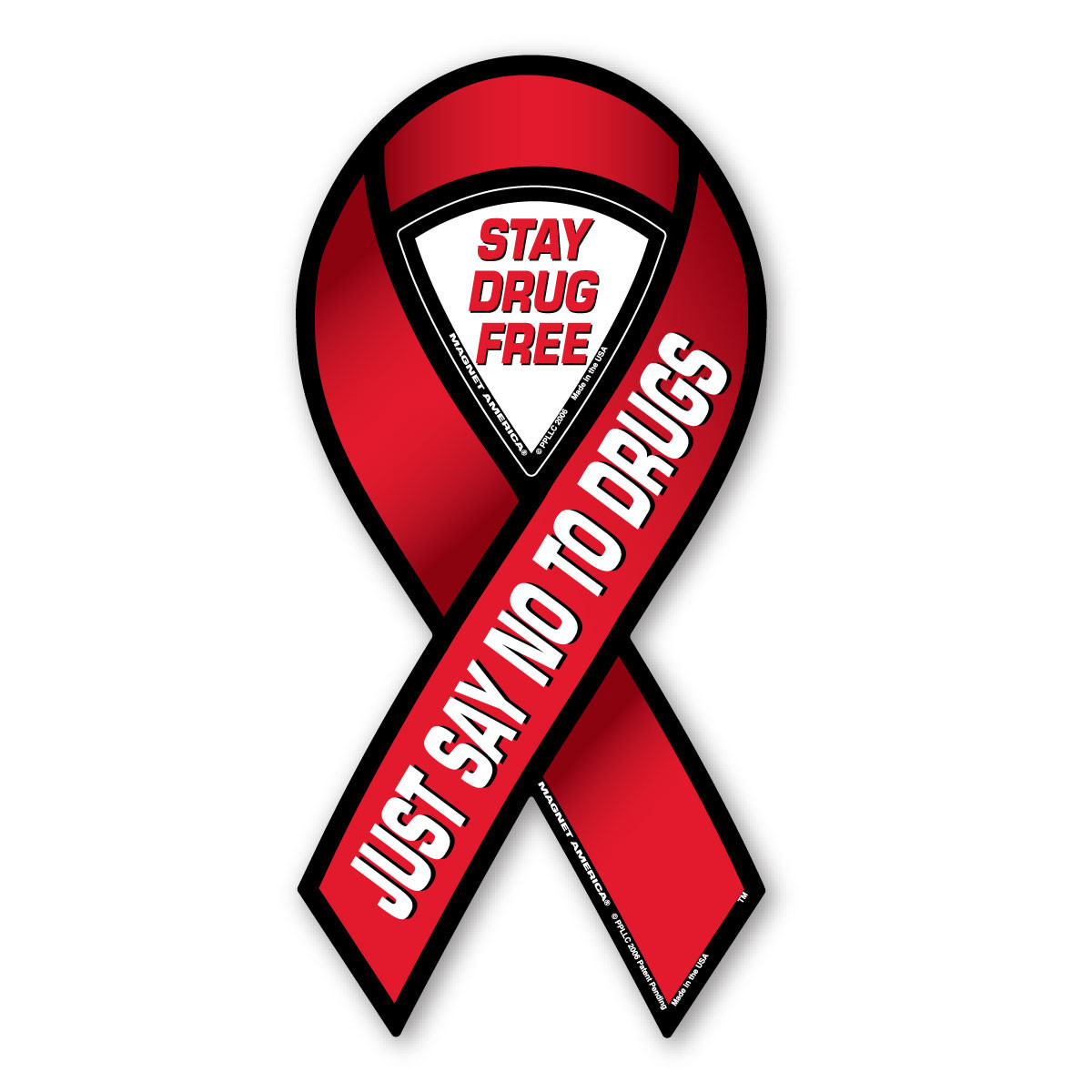 Just Say No To Drugs 2-in-1 Ribbon Magnet | Magnet America