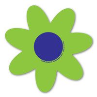 Green and Blue Flower Magnet