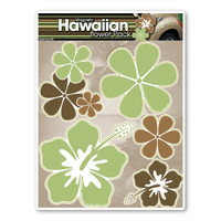 Green Hawaiian Flower Pack Magnet