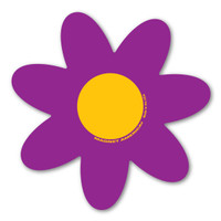 Purple and Yellow Flower Magnet