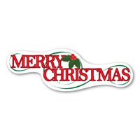 Merry Christmas Bumper Strip  Magnet