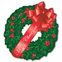Merry Christmas Wreath Magnet