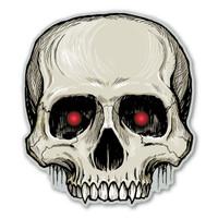 Skull Halloween Magnet
