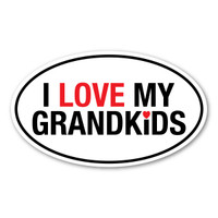 I Love My Grandkids Oval Decal