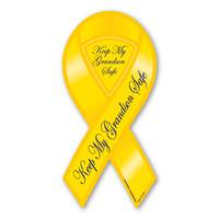Keep My Grandson Safe 2-in-1 Ribbon  Magnet