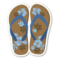Brown and Blue Flip Flop Magnet