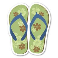 Green and Blue Flip Flop Magnet