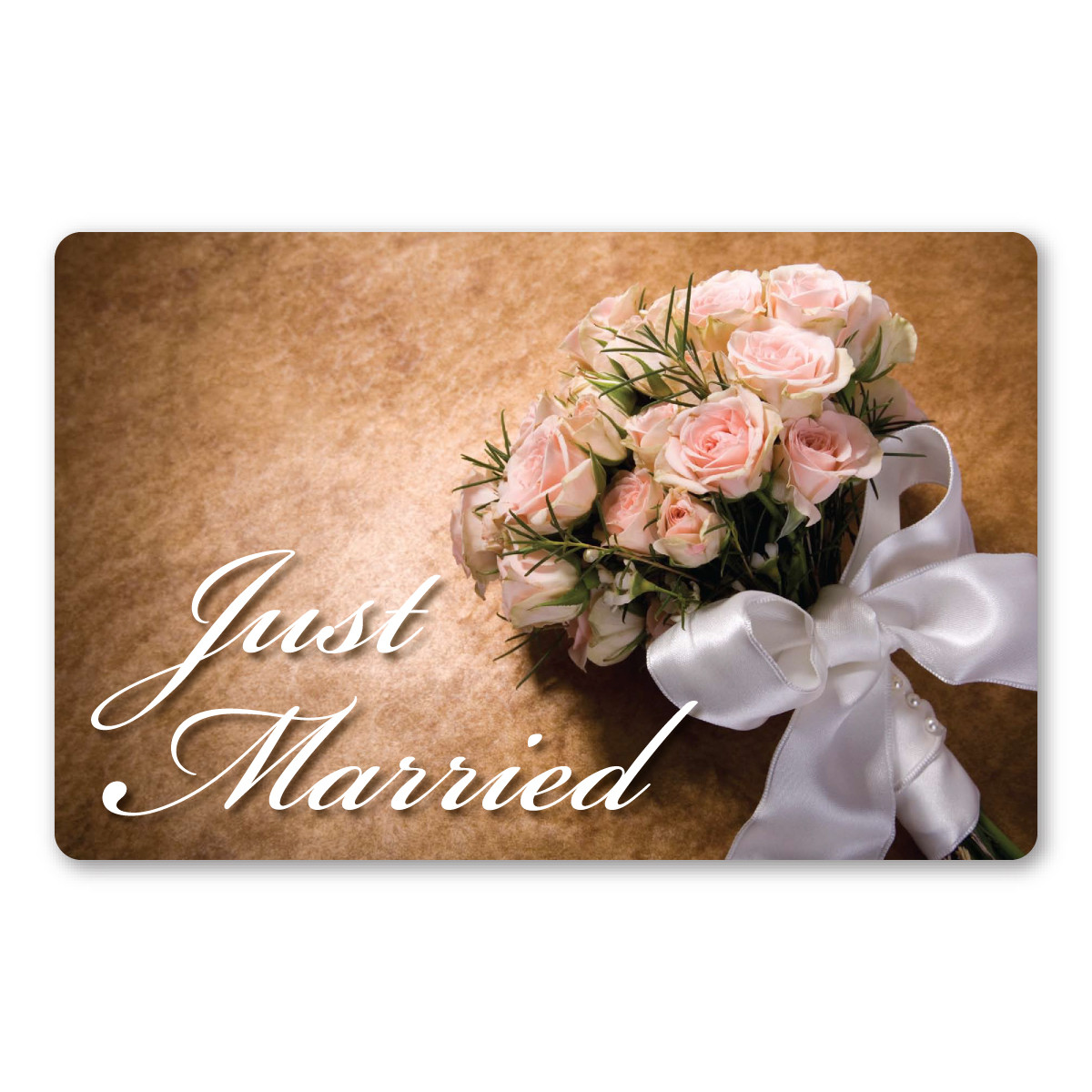 Simple Wedding Car Decoration Ideas: Just Married Flowers Car Sign Magnet