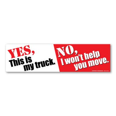 Bumper strip decal image 1