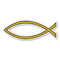 Gold Plain Fish Mini Magnet