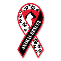 Animal Rescue Ribbon Magnet