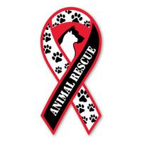 Animal Rescue Ribbon Magnet