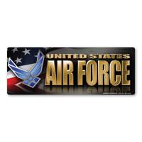 Air Force Chrome Bumper Strip  Magnet