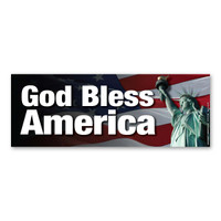 God Bless America Bumper Strip Magnet