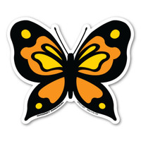 Orange Butterfly Magnet
