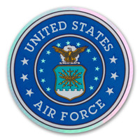 This holographic decal is perfect for showing support for our men and women in the U.S. Air Force.