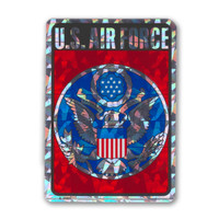 This holographic decal is perfect for showing support for our men and women in the U.S Air Force.