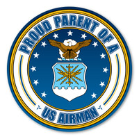 Proud Parent of a US Airman Circle  Magnet