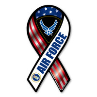 Air Force Red, White, & Blue 2-in-1 Mini Ribbon  Magnet