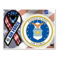 Air Force Combo Mini Ribbon / Circle  Magnet