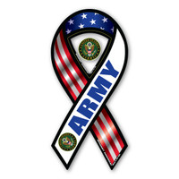 Army Red, White, & Blue 2-in-1 Ribbon  Magnet