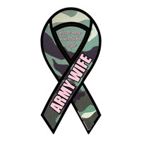 Army Wife Green Camouflage 2-in-1 Ribbon Magnet