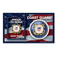 The United States Coast Guard was founded in 1790 and serves as both a branch of the military as well as law enforcement. During times of peace, the Coast Guard operates lighthouses and works with the Department of Homeland Security to protect our borders. During times of war, the Coast Guard works with the Navy and its resources are used in military operations. This 3-in-1 Picture Frame Magnet is a great way for family and friends to display photos of their loved ones in the Coast Guard. It also comes with two additional support magnets for both those who have served or are currently serving in the Coast Guard or for family and friends to show their pride and support for this branch.
