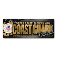 The United States Coast Guard was founded in 1790 and serves as both a branch of the military as well as law enforcement. During times of peace, the Coast Guard operates lighthouses and works with the Department of Homeland Security to protect our borders. During times of war, the Coast Guard works with the Navy and its resources are used in military operations. This Mini Bumper Strip Magnet is a great way for Retired members of the Coast Guard to show pride in their service to our country.